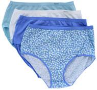 Hanes Pure Comfort Premium Briefs, 8 Pairs - BLUE (M)