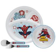 Spiderman Toddlerific Mealtime 4-Piece Set