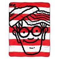 Where's Waldo? Red, White Waldo Super Plush Throw