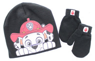 Paw Patrol Marshall Toddlers Beanie Hat and Mittens Set