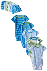 Gerber Boys Onesies (3-6M) & Cap (0-6M) Bundle Set