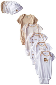 Gerber Unisex Onesies (3-6M) and Cap (0-6) Bundle Set