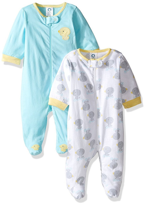 44e38bbca6 ... Gerber Unisex New Duck 2-Pack Sleep  n Play (3-6 Months). Image 1