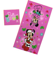Disney Minnie Mouse Christmas Towel & Washcloth Set