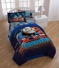 Thomas & Friends Tech Twin/Full Comforter w/ Plush Reverse