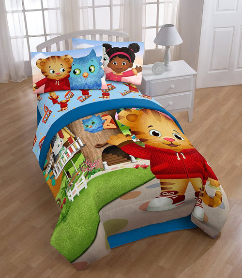 Bedding Daniel Tiger Treehouse Pals Twin Reversible Comforter Image 1 2 3 4 See More Pictures