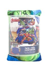 Marvel Avengers 'Blue Circle' Twin/Full Comforter
