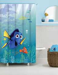 Finding Dory 'Sun Rays' Fabric Shower Curtain