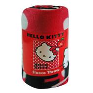 "Hello Kitty Polka Dot Fleece Blanket Throw - 46"" X 60"""