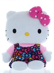 "Hello Kitty ""Colorful Bows"" Cuddle Pillow"