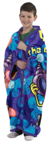 "Spongebob ""Catch of the Day""  Cuddly Wrap Blanket w/ Sleeves"