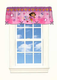Dora the Explorer 'Day Camp' Satin Valance