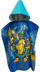 Mixels Electroid Hooded Poncho Bath Towel