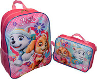 Girl's Paw Patrol 16'' Backpack W/Lunch Bag Set