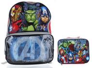 "Marvel Avengers 16"" Backpack with Lunch Bag Set"
