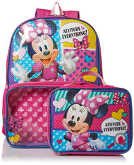 Minnie Mouse Backpack with Lunch Bag Set