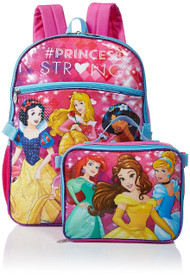 Disney Princess Backpack with Lunch Bag Set