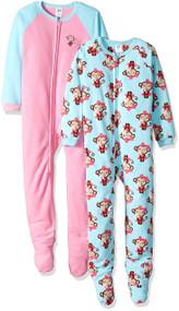 Gerber Girl's Monkey Blanket Sleepers (2 Pack) - Size 4T