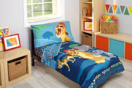 The Lion Guard 'Wild Team' 4-Piece Toddler Bedding Set