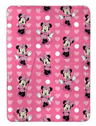Minnie Mouse Classic 'Hearts' Travel Fleece Throw