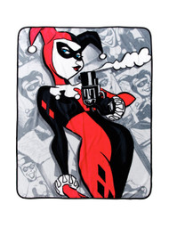 Harley Quinn 'Smoking Gun' Super Plush Throw