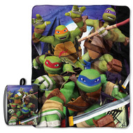 TMNT 'Back to the Vortex' Drawstring Tote and Throw Set