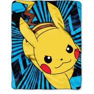 "Pokemon ""Zip Pika"" Fleece Throw"