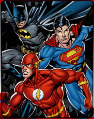 "Justice League ""Trio"" Fleece Throw"