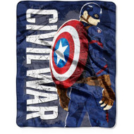 """Captain America """"Captain's War"""" Silky Soft Throw"""