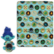 Trolls 'Branch' Character & Super Plush Throw Set