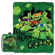 TMNT 'Green & Lean' Drawstring Tote and Throw Set