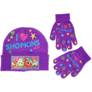 Shopkins Girls Winter Hat & Glove Set