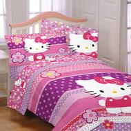 Hello Kitty 'Ditsy Dots' Twin/Full Size Comforter w/ Plush Reverse