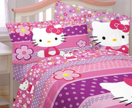 Hello Kitty 'Ditsy Dots' Twin Sheet Set