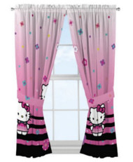 Hello Kitty 'Hello Ombre' Window Panels