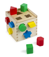 Shape Sorting Cube With 12 Shapes
