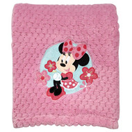 Minnie Mouse Popcorn Coral Baby Blanket