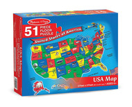 Melissa & Doug USA Map 51-Piece Floor Puzzle