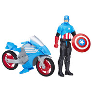 Marvel Avengers - Titan Hero Series: Captain America With Battle Cycle