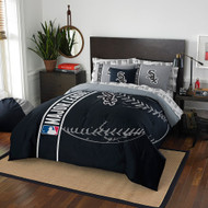 MLB Chicago White Sox Soft & Cozy 7-Piece Full Size Bed in a Bag Set