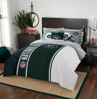 NFL New York Jets Soft & Cozy 7-Piece Full Size Bed in a Bag Set