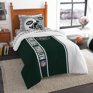 NFL New York Jets Soft & Cozy 5-Piece Twin Size Bed in a Bag Set