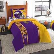NFL Minnesota Vikings Soft & Cozy 5-Piece Twin Size Bed in a Bag Set