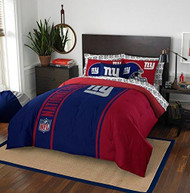 NFL New York Giants Soft & Cozy 7-Piece Full Size Bed in a Bag Set