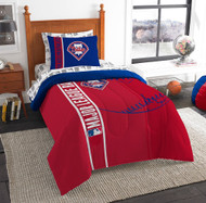 MLB Philadelphia Phillies Soft & Cozy 5-Piece Twin Size Bed in a Bag Set
