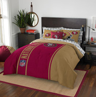 NFL San Francisco 49ers Soft & Cozy 7-Piece Full Size Bed in a Bag Set