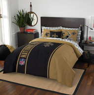 NFL New Orleans Saints Soft & Cozy 7-Piece Full Size Bed in a Bag Set