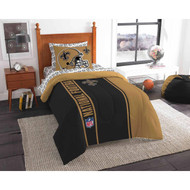 NFL New Orleans Saints Soft & Cozy 5-Piece Twin Size Bed in a Bag Set