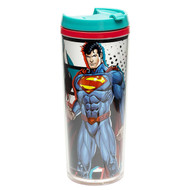 Zak! Designs Insulated Travel Mug featuring Superman  & Justice League Graphics