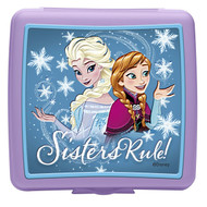 Zak! Designs Disney Frozen Reusable Sandwich Container with Embossed Character Lid